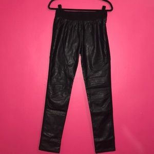 (NWT) F21 leather moto leggings